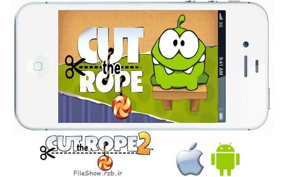 دانلود بازی اندروید آیفون آیپد Cut The Rope HD 2014 بریدن طناب ها
