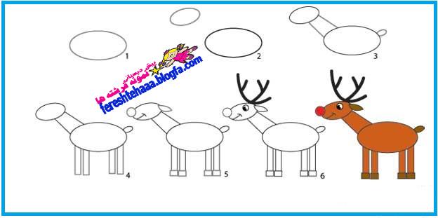 پیش دبستانی سه ستاره فرشته ها - نقاشی گام به گام بابا نوئل ...