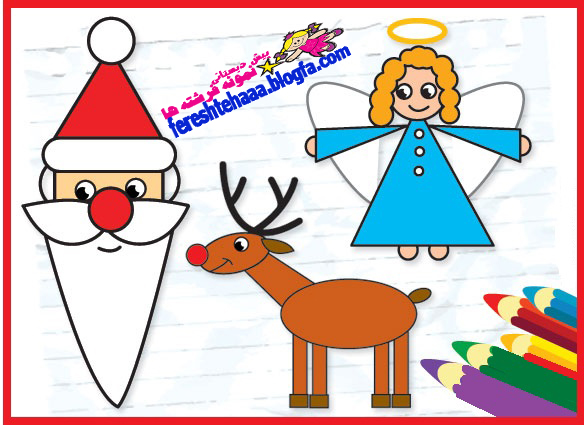 پیش دبستانی سه ستاره فرشته ها - نقاشی بابانوئل
