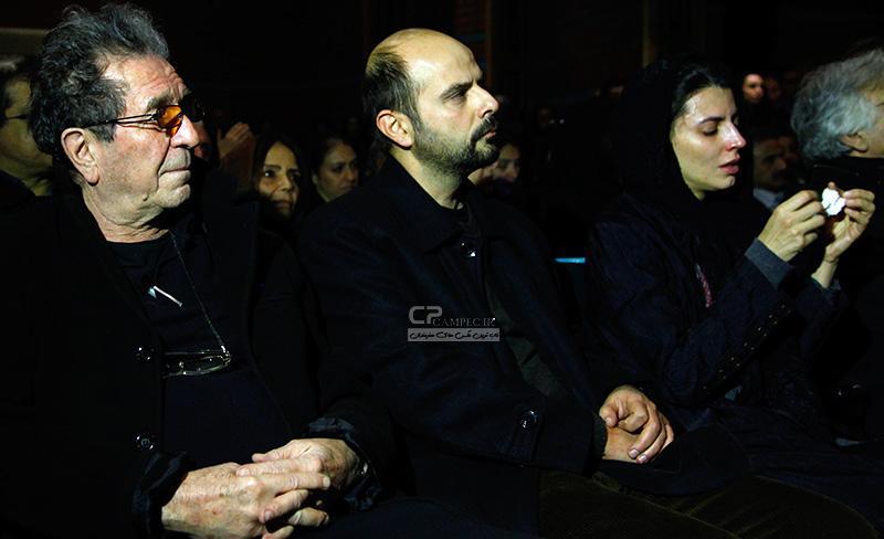 لیلا حاتمی و همسرش علی مصفا و داریوش مهر جویی