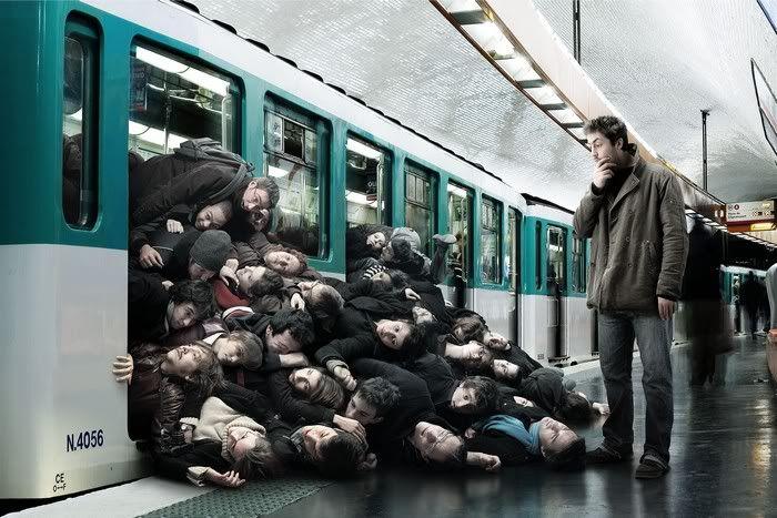 عکس جالب متروی تهران