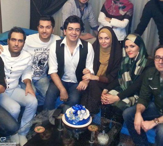 فرزاد حسني و همسرش در شب نشيني به مناسبت تولد آزاده نامداري