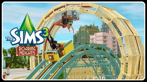 قطار وحشت Sky High Roller Coaster در دنیای سیمز