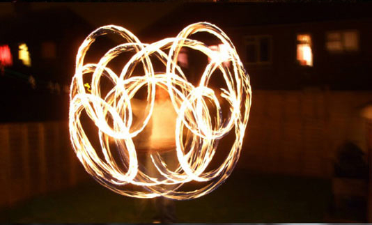 هنر عکاسی: هنرنمایی با آتش