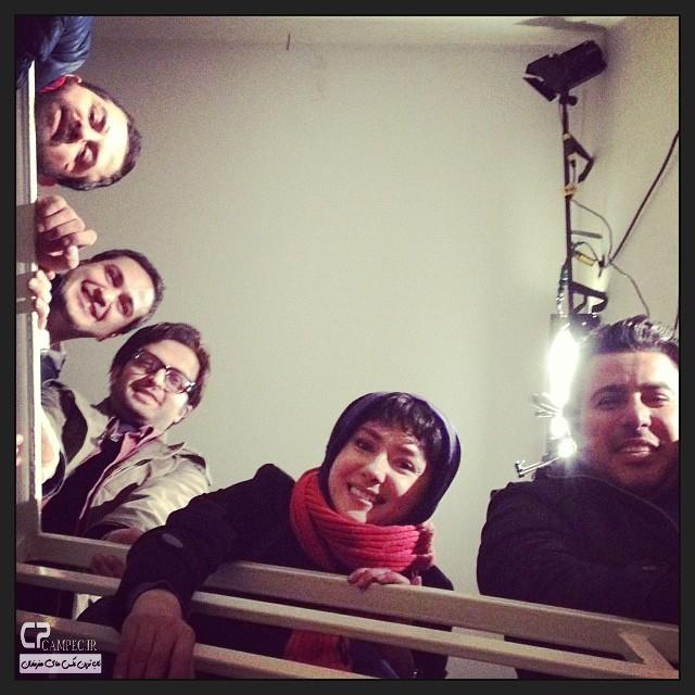 عکس های هانیه توسلی در پشت صحنه فیلم خط ویژه