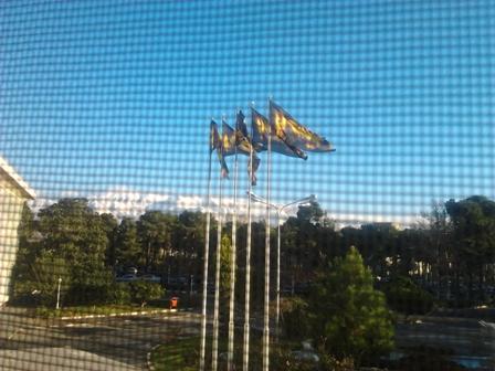 کوه از پشت پنجره