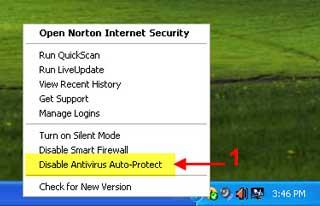dis norton 01 آموزش تصویری غیر فعال کردن آنتی ویروس Norton