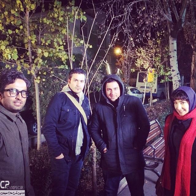 جدید ترین عکس های هانیه توسلی در پشت صحنه فیلم خط ویژه