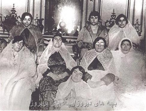 عکس قدیمی از دختران مظفرالدین شاه قاجار