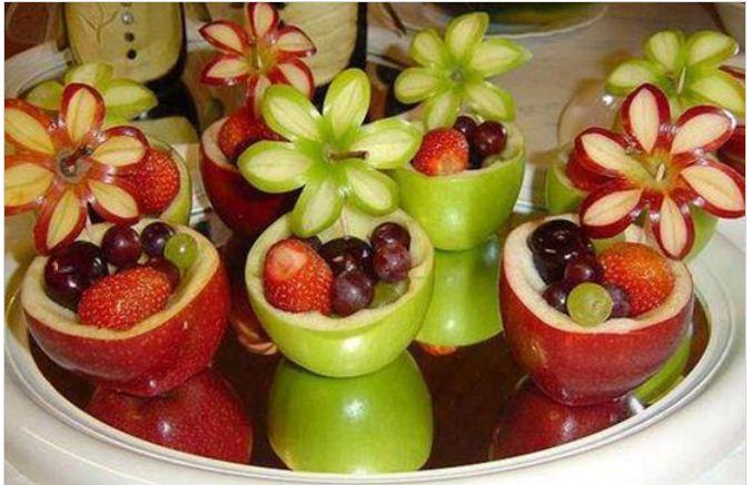 آموزش تصویری میوه آرایی
