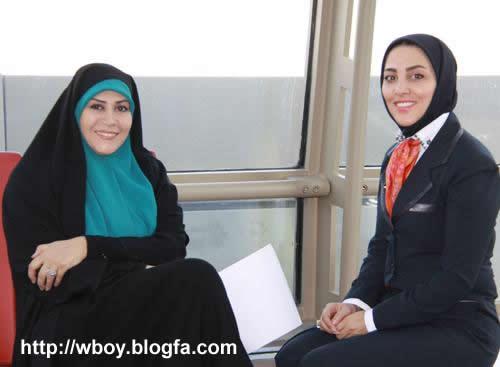 ژیلا صادقی و الهام صفوی زاده مجری تلویزیون