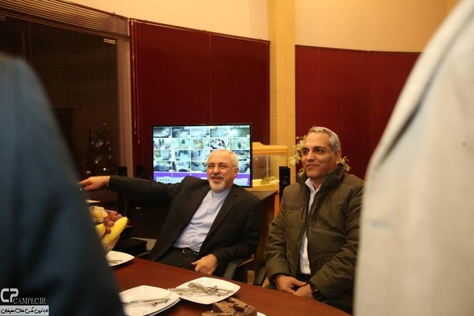 عکس های مهران مدیری و محمد جواد ظریف در پشت صحنه سریال شوخی کردم