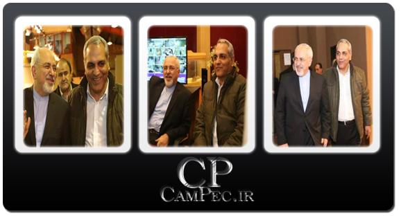 تصاویر مهران مدیری و محمد جواد ظریف در پشت صحنه سریال شوخی کردم
