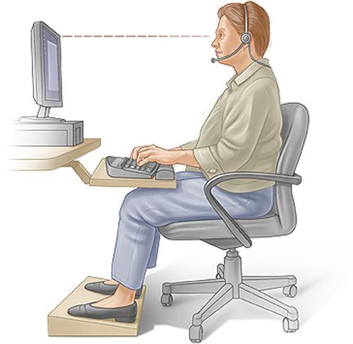 پزشکی: توصیـه های مهـم پزشکی هنـگام کار با کامپـیوتر
