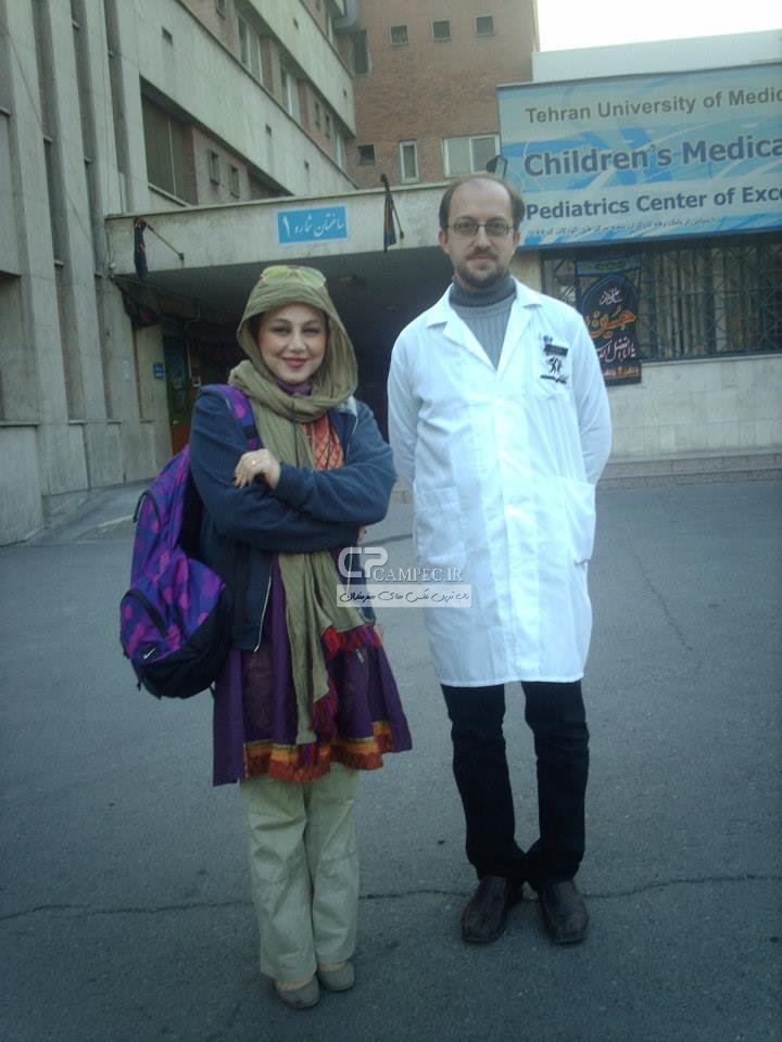 عکس های جدید بهنوش بختیاری در بيمارستان طبي كودكان