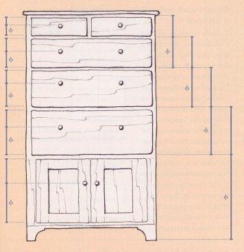 Furniture Design Golden Ratio هنر ریاضی ورزیدن - نسبت طلایی