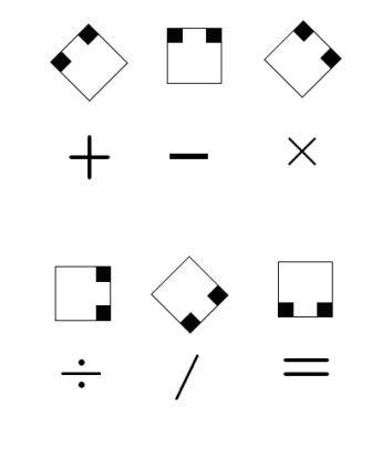 علائم ریاضی حساب افزار
