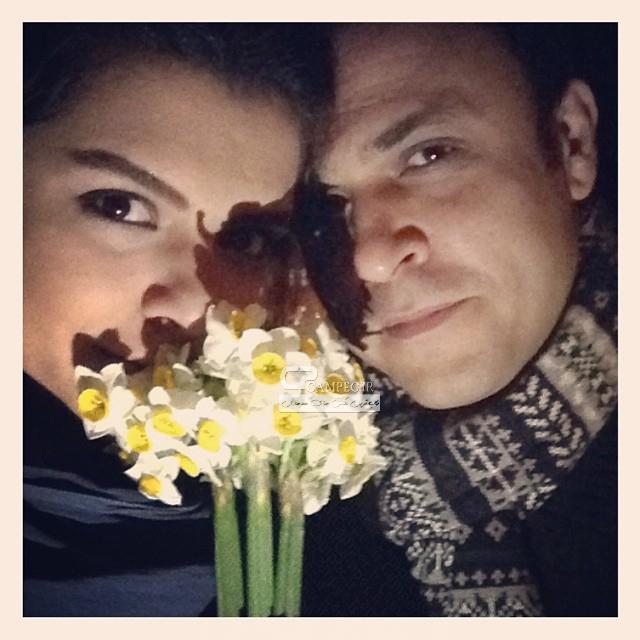 علیرضا کمالی نژاد و همسرش دنیا مدنی