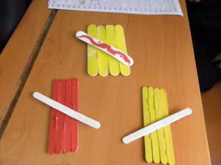 کاردستی با چوب خط کلاس اول