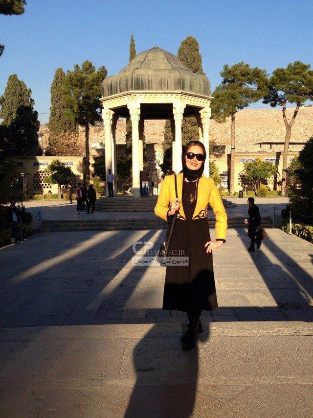عکس جدید الناز شاکردوست در حافظیه شیراز