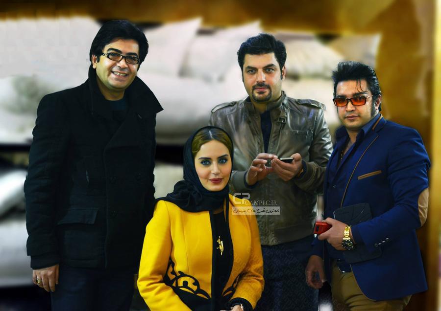 عکس جدید الناز شاکردوست و سام درخشانی و فرزاد حسنی در شیراز
