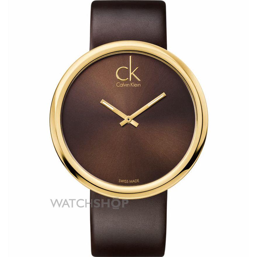خرید ساعت مچی اینترنتی دخترانه قهوه ای CK