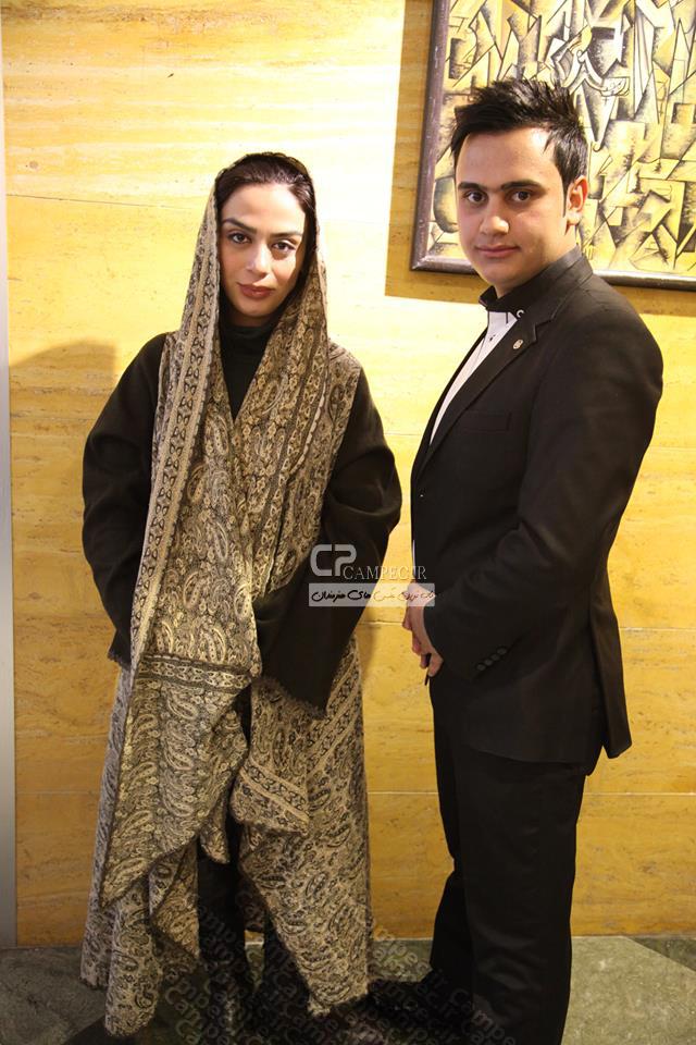 مارال فرجاد و سجاد منصوری در پشت صحنه برنامه خوشا شیراز