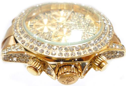 ساعت مردانه طرح رولکس طلایی