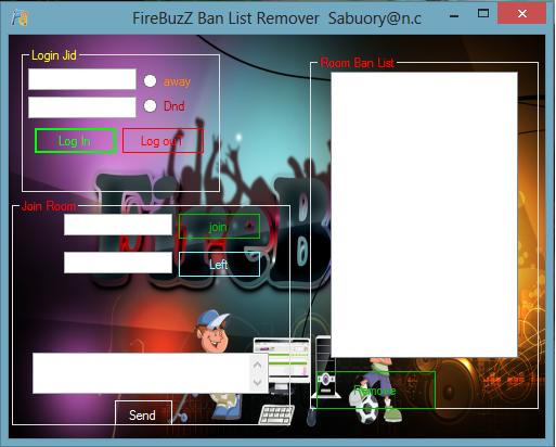 FireBuzZ Ban List Remover FireBuzZ_Ban_List_Remover_screen_shot