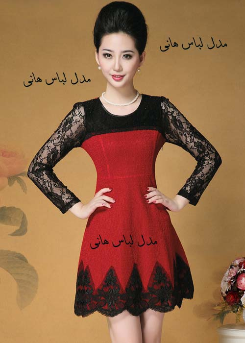 پیراهن لمه کوتاه گالری مدل لباس مجلسی و عروس 2014 - مدل لباس دخترانه کره ای 2014