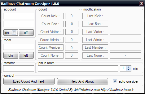 Badbuzz Chatroom Gossiper 1.0.0 Gossiper