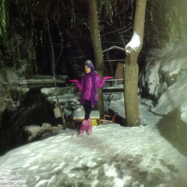 عکس های جدید و زمستانی الهه حصاری
