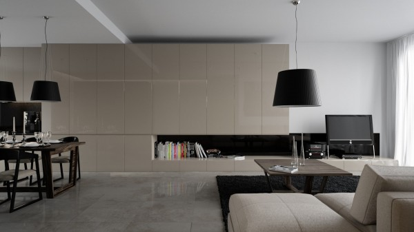 طراحی و دکوراسیون منزل مسکونی بصورت مینیمال