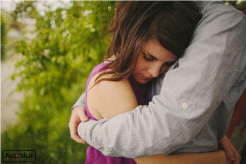 عکس آغوش گرفتن عاشقانه