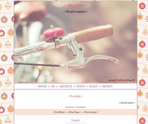 قالب دوچرخه بلاگفا