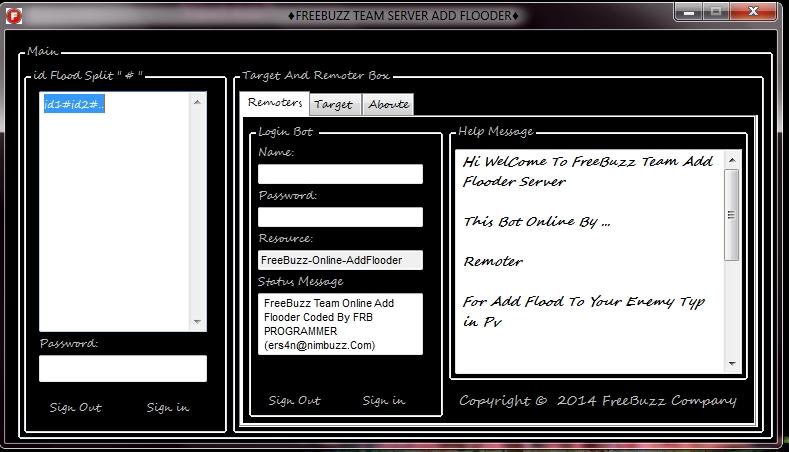 FreeBuzz Team Online Add Flooder With Remote Verison One ScreenShot_37