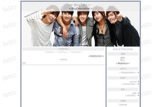 قالب پسرانه کره ای برای بلاگفا