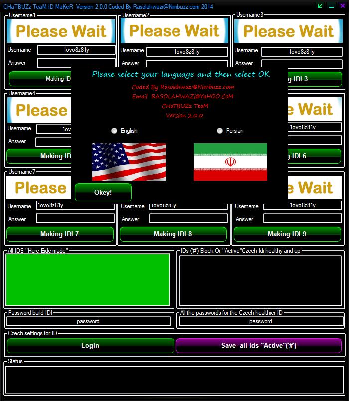 New Version CHaTBUZz TeaM ID MaKeR Version 2.0.0 748646465