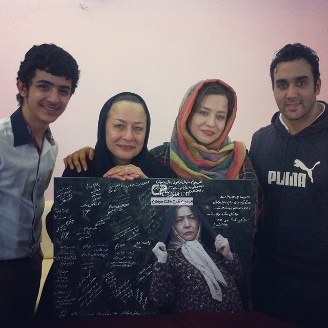 مهراوه شریفی نیا و مادرش و پوریا پور سرخ