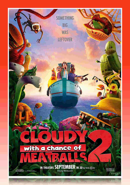 فیلم انیمیشن cloudy with a chance of meatballs 2 2013