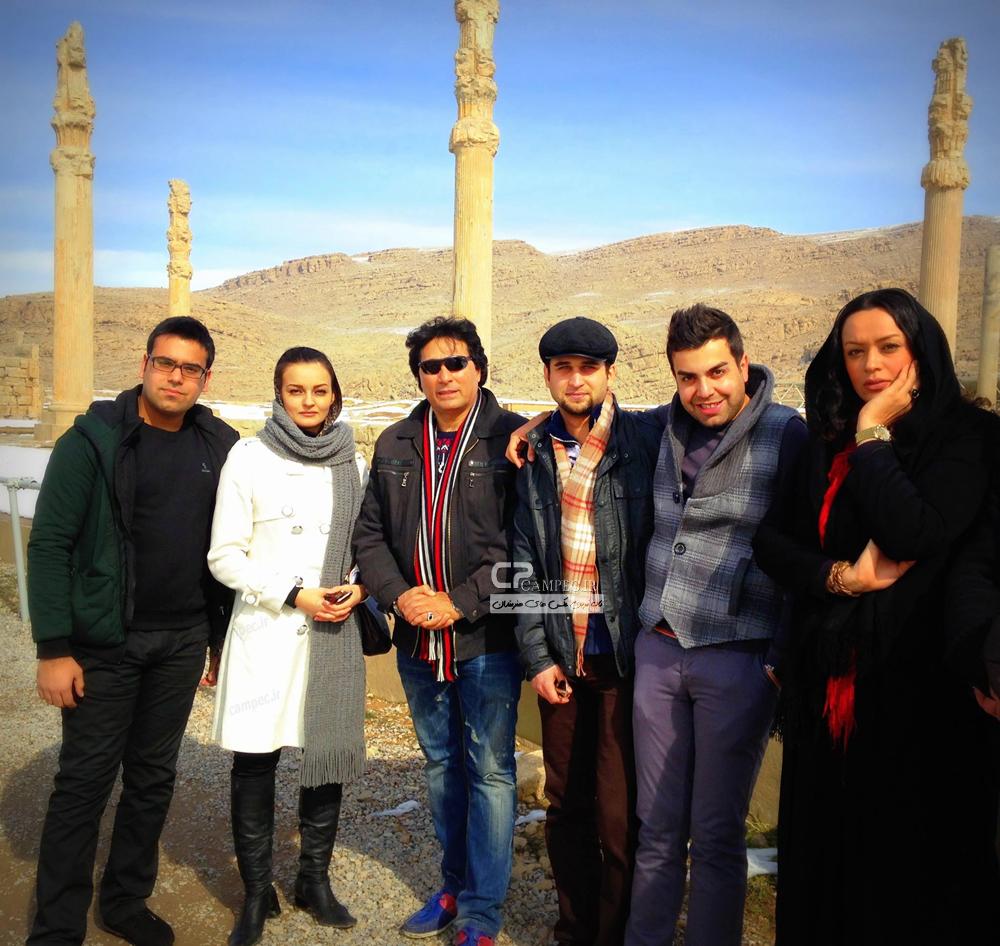 الهام چرخنده،علی تقوا زاده و نیلوفر پارسا بازیگران آوای باران