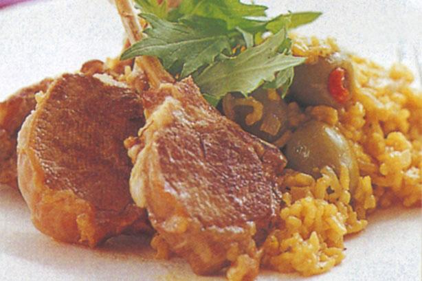 آشپزی: استیک بره با برنج زعفرانی