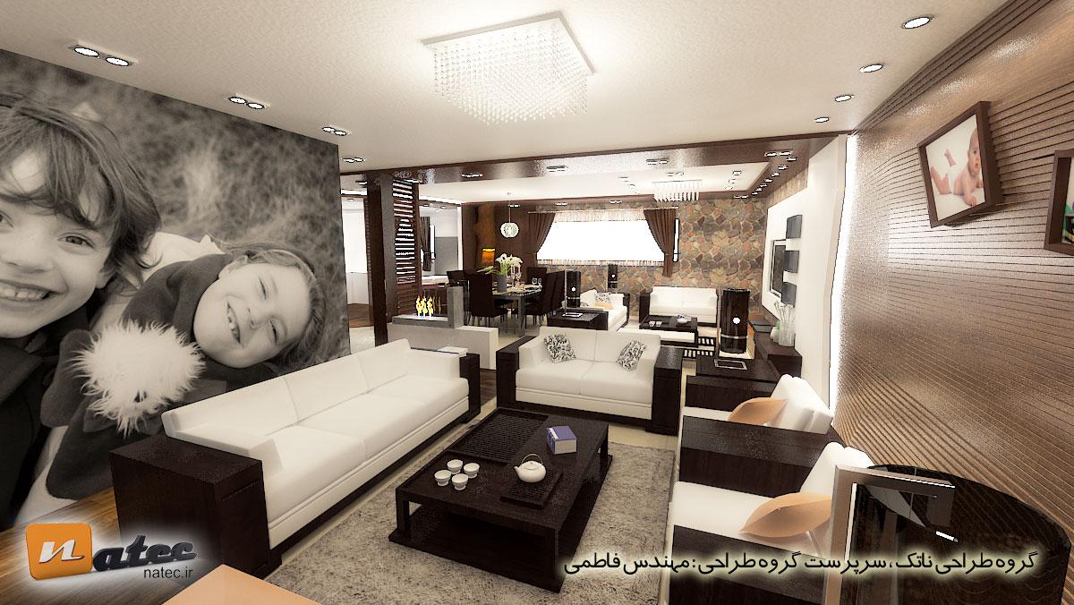 نمونه کار طراحی منزل مسکونی در اصفهان