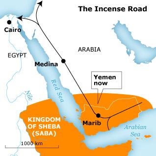 نقشه قلمرو دولت سباء