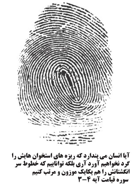 انگشت نگاری در قرآن