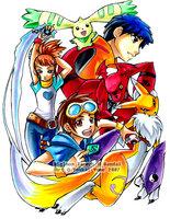[تصویر:  Digimon_Tamers_by_YoukaiYume.jpg]