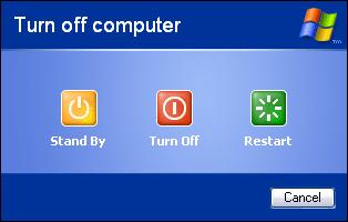 کامپیوترتان را در ۲ ثانیه خاموش کنید Windows_XP_Shutdown