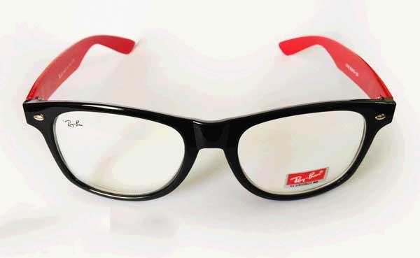 خرید عینک ویفری ریبن شیشه شفاف دسته قرمز