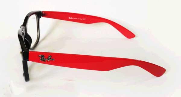 عینک ریبن ویفری شیشه شفاف دسته قرمز
