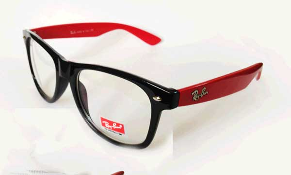 عینک آفتابی شیشه شفاف ریبن ویفری دسته رنگی